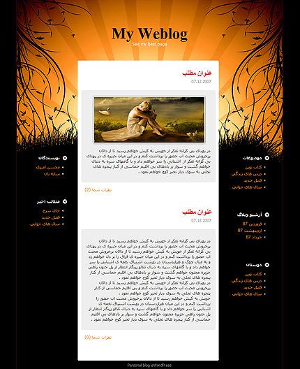 قالب وبلاگ شماره 13