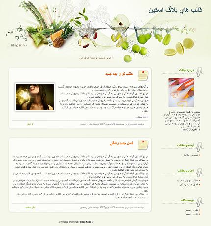 قالب وبلاگ شماره 30