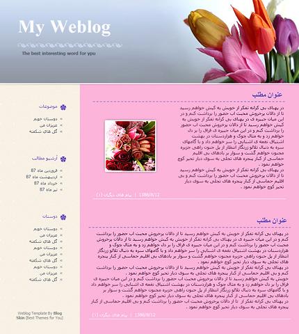 قالب وبلاگ شماره 4